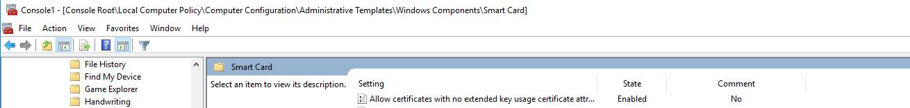 skärmdump på certifikatsinformation