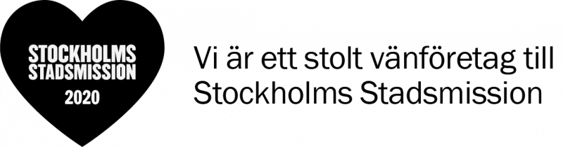 svart hjärta med svart text till höger